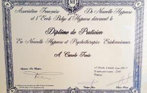 diplome_carole_trois_hypnose